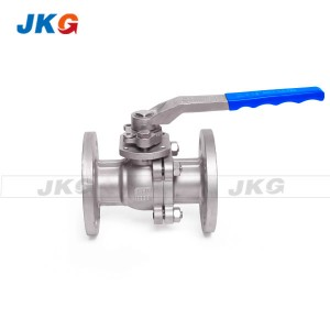 DIN Standard Split Body Low Platform 2pc Ball Valve PTFE PPL Soft Seat