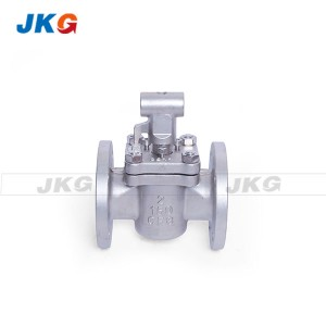 2 Way Flanged Sleeved Plug Valves Soft Sealing Lubricated Tufline მექანიკური ოპერატორი