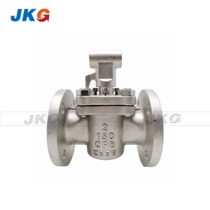 Self Lubricated Flanged Quarter Turn Ptfe Plug Valve Cast Steel Carbon Steel