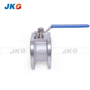 PN25 High Pressure Handle Wafer Floating Ball Valve PTFE PPL Seat