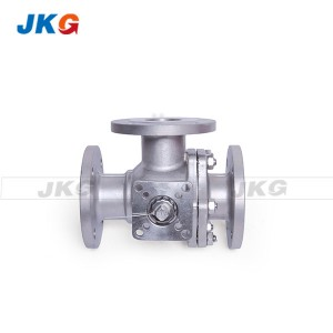 Q45F 16P T – Port 3 way Flange CF8M Ball Valve Floating High Platform Control Valve