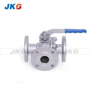 High Performance 3 Way Ball Valve Stainless Steel Full Port PN40 T / L Port