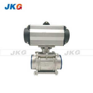 Rotary Actuated Industrial Pneumatic Valves 1000WOG Stainless Steel Ball Valve