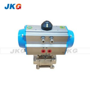 OEM Stainless Steel Spring Return Pneumatic Ball Valve Full Port Valve