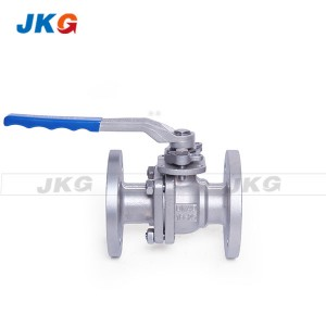 Normal Pressure Flanged Ball Valve Handle Lever 150LB DN50 High Platform