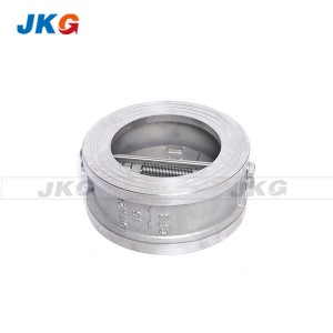 Butterfly Type Dual Plate Wafer Check Valve Stainless Steel For Oil Water Gas