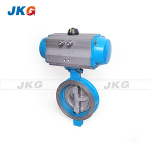 Rotary Actuator Wafer Butterfly Control Valve Spring Return Pneumatic