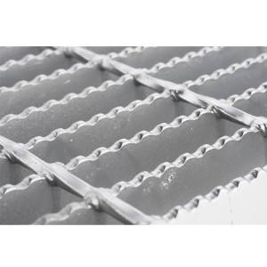 HOT DIP GALVANIZED SERRATED STEEL GRATING