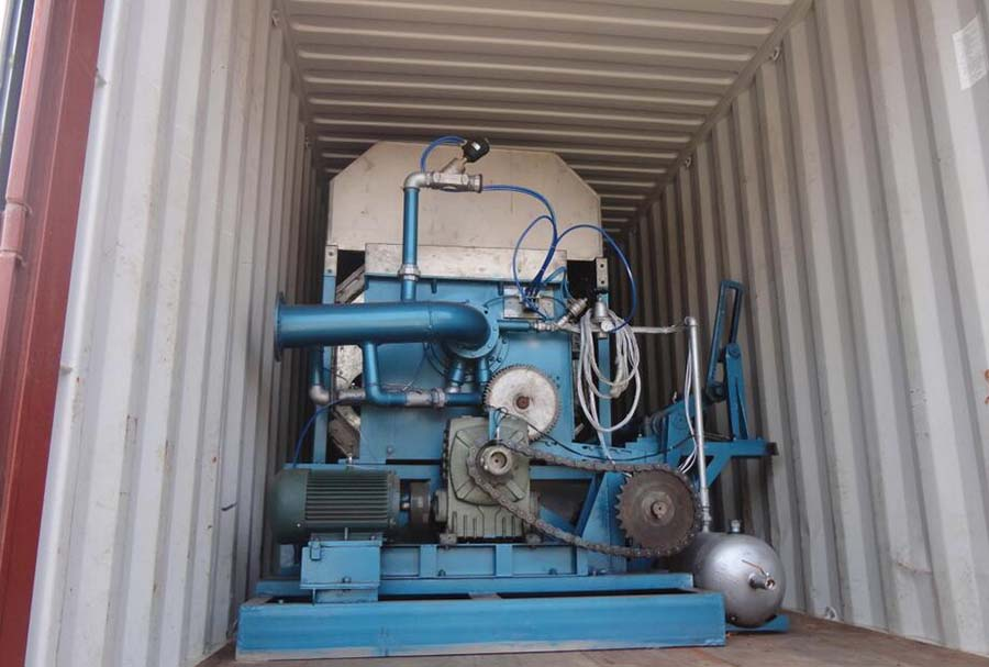 ZMZ20/24 rotary egg tray machine load to Iraq.