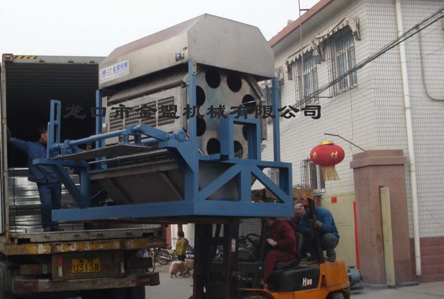 ZMZ20/32 rotary egg tray machine load to Congo