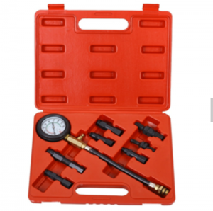 JC9202 Petrol Engine Oil Fuel Injection Pump CompressionTester Test Pressure Gauge Tool Kit