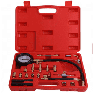 JC9205 140PSI Engine Oil Fuel Injection Pump Compression Tester Test Pressure Gauge Tool Kit