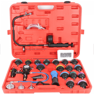 JC9252 27pcs type Water Tank Leak Detector Automatic Cooling System Radiator Color Cap Pressure Tester Kit