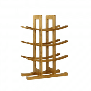 Natural Bamboo 3 Tier Wine Rack 12 Bottles Perfect for Vino Bars Cellars Countertop and Apartment Furniture, Urban living
