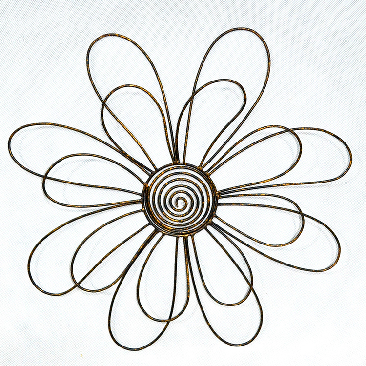 Antique 3D Metal  flower Wall Art hanging Decor low price