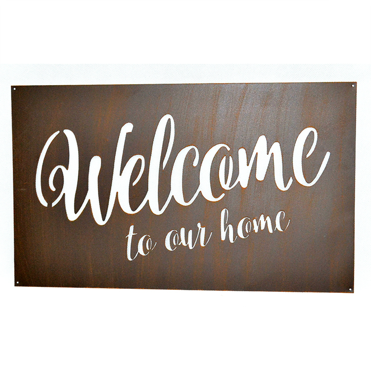 Wrought Iron Metal  Welcome Sign Iron Art Wall Decor