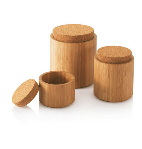 Bamboo Salt Box Jar With Magnetic Lid, 100% Organic bamboo Professional-Grade No Smell