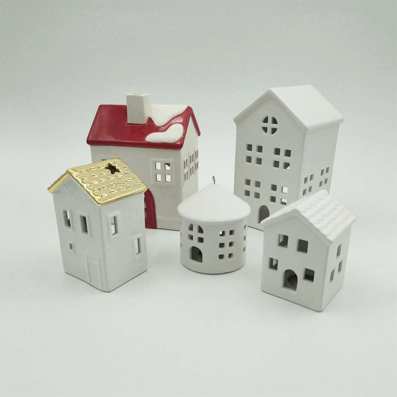 Home is Where The Heart is Porcelain House Candle Holder, Porcelain House tealight Holder