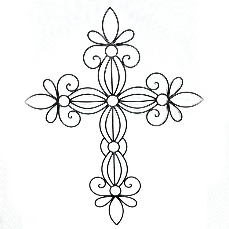 Antique 3D Metal Wall Art crosses hanging Decor low price