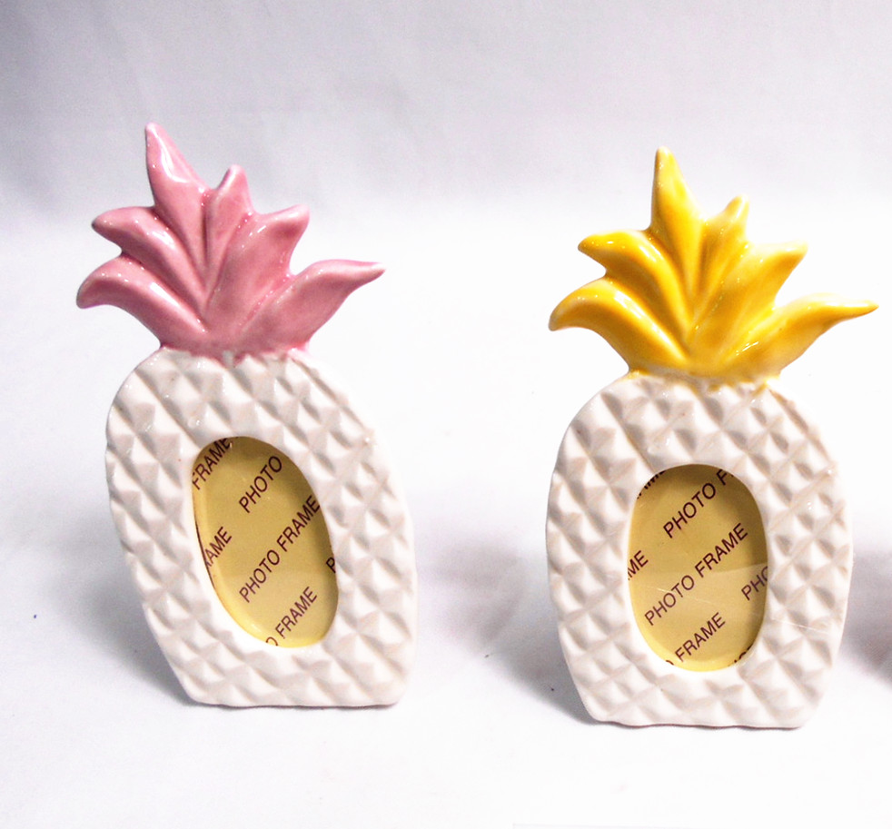 Polyresin summer fruit pine apple picture frames , pine apple photo frames