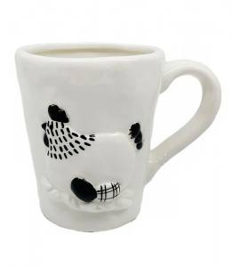 Ceramic Chick mug, white and Black