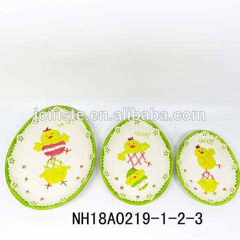 Holiday Easter Decor – Chick Easter Egg Plate Dishes