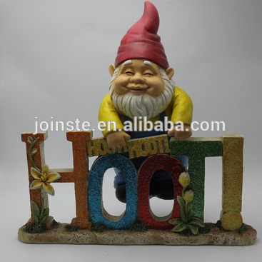 Custom cheap resin gnome for flower pot funny garden gnome high quality