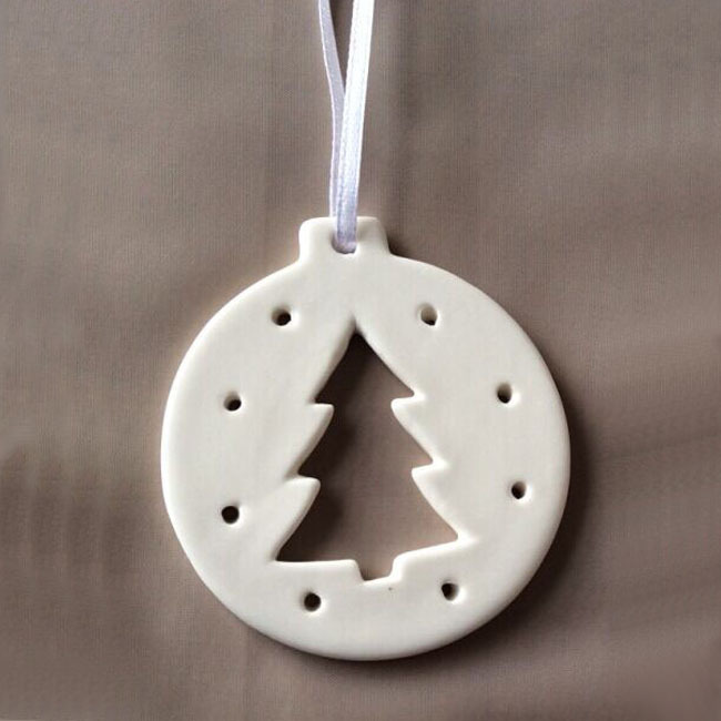 Custom made Hanging ornament Decoration For Christmas, Ceramic,  Christmas tree