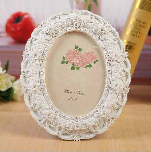 New classical wedding resin photo frame for sale oval shape picture frame