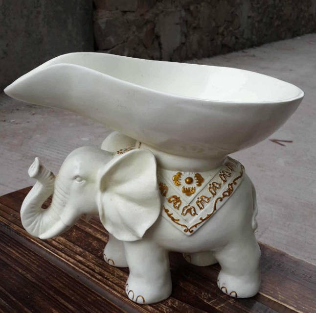 Resin elephant fruit plate exotic crafts elephant