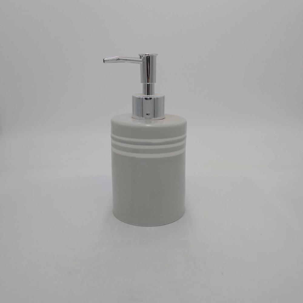 White Hand Soap Dispenser – Dish Soap Dispenser for Bathroom Kitchen Countertop Ceramic Bathroom Soap Pump