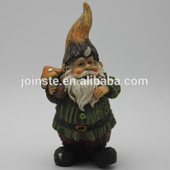 Custom cheap resin gnome for flower pot funny garden gnome