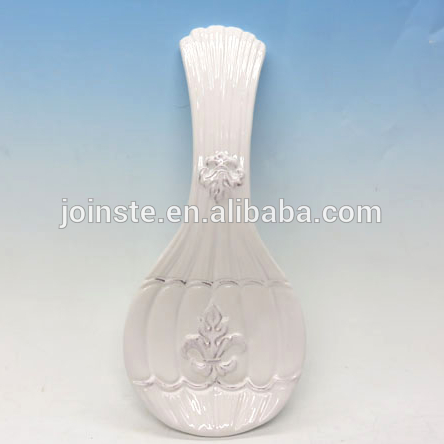 Custom white flower 3d painting nobal soup spoon home decoration
