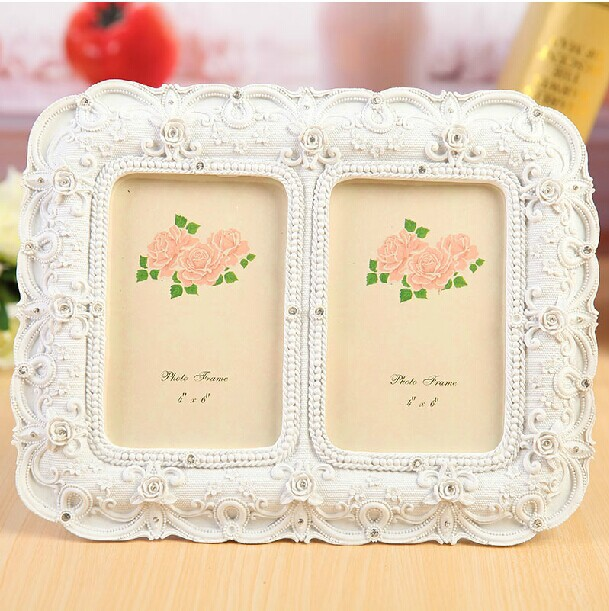New classical wedding resin photo frame for sale  double picture frame