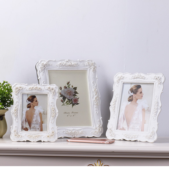 Fashion beautiful picture frame designs wedding resin photo frame
