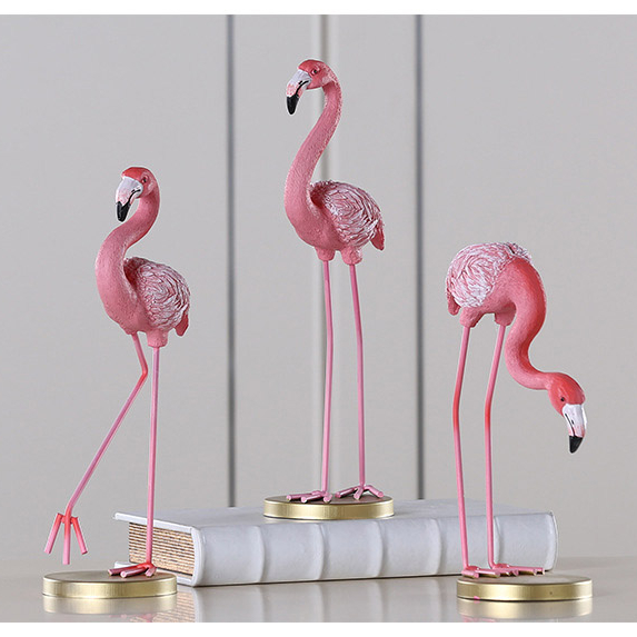 Customize polyresin pink flamingo statue decorative flamingo