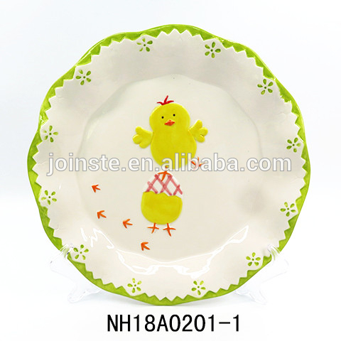 Easter Deviled Egg Plate with chicks
