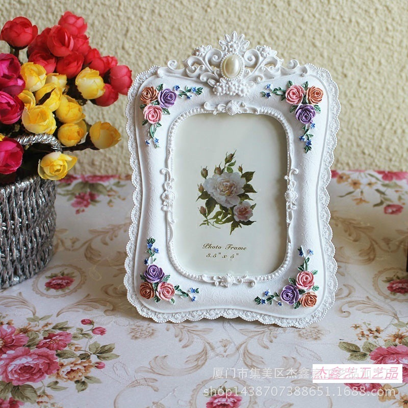 Baroque White Decorative Resin Handmade Picture Photo Frames