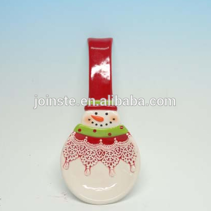 Custom Christmas snowman painting spoon home decoration soup spoon rest