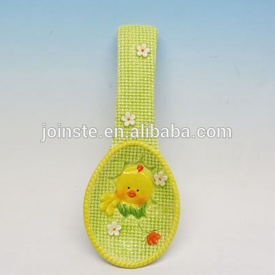 Custom green chick 3d painting spoon home decoration soup spoon gift for kids