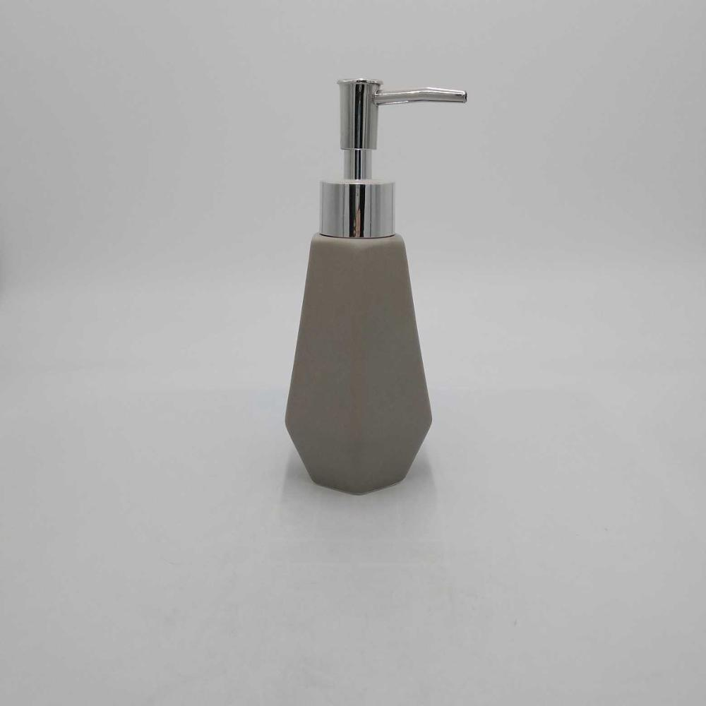 Tall Refillable Ceramic Liquid Hand Soap Dispenser Pump Bottle for Bathroom, Powder Room, Kitchen – Holds Soaps