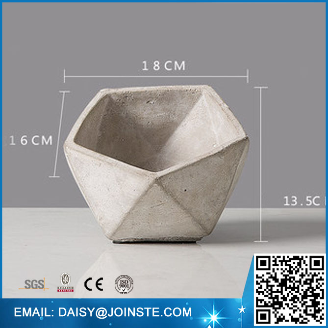 Geometry Concrete Desktop Planter,Geometry cement flower pot,custom cement flower pot