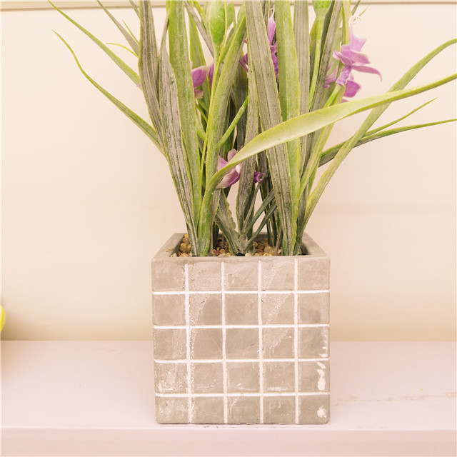 Simple Modern Concrete planter pot Cement Square Shape Flower pot Mold