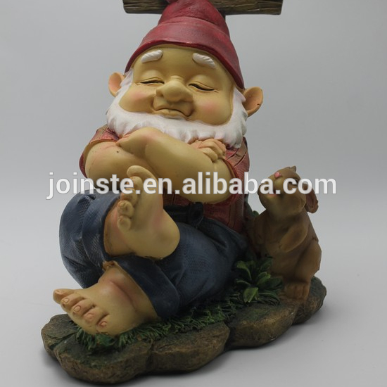 Custom cheap resin small dwarfs gnome garden gnome figurine