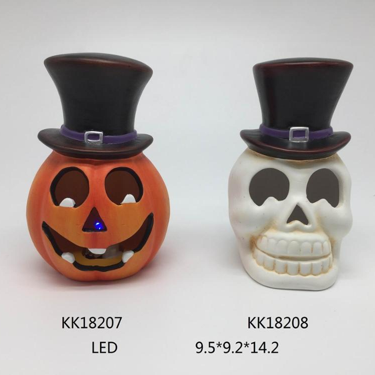 Popular product high quality hand paint home decor ceramic decoration halloween pumpkin