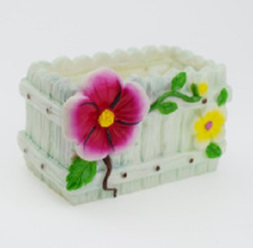 Custom cheap resin rectangle shape flower planter pot garden species