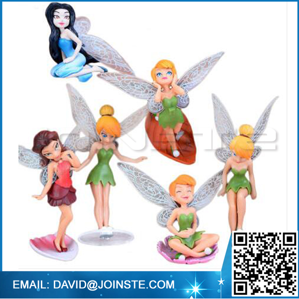 6 Piece Fairy Miniature Figurine Garden Ornament Plant Pot Dollhouse Decor