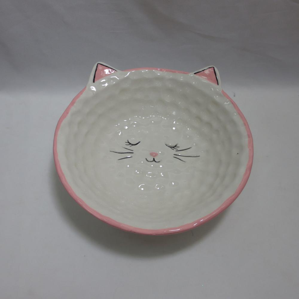 Personalized decorative salad bowls,bulk cereal bowls, Ceramic Cat/Kitty funny cereal bowls