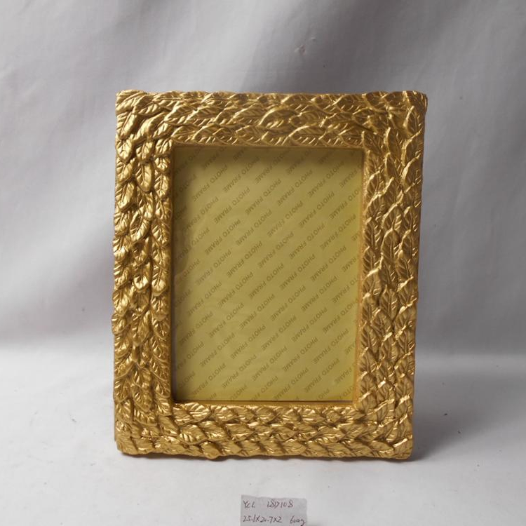 "Resin Gold Photo Frame 4*6"" Customized for Home Decor"
