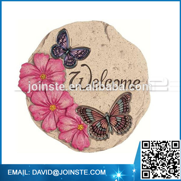 Best selling round shape butterfly garden stepping stone